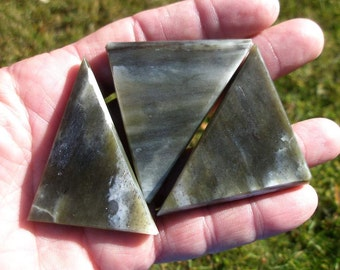 Jade green carving stone blanks of Dracocite