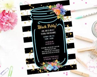 Neighborhood Block Party Digital Invitation - Print at Home - BBQ Invitation - Picnic Invitation - Block Party DIY - Summer Invitation