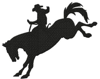 Rodeo Rider...Solid Fill Machine Embroidery DESIGN NO. 698