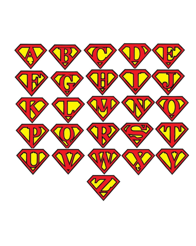 Superman Alphabet...Applique Machine Embroidery DESIGN NO. 633