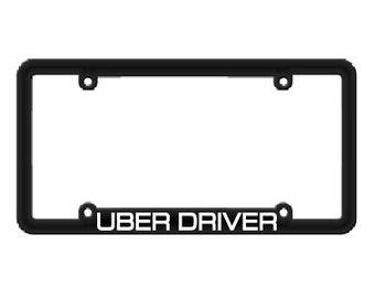 Uber Driver License Plate Frame