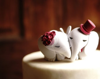 ELEPHANT Wedding Cake Topper - Warranty Protection Included