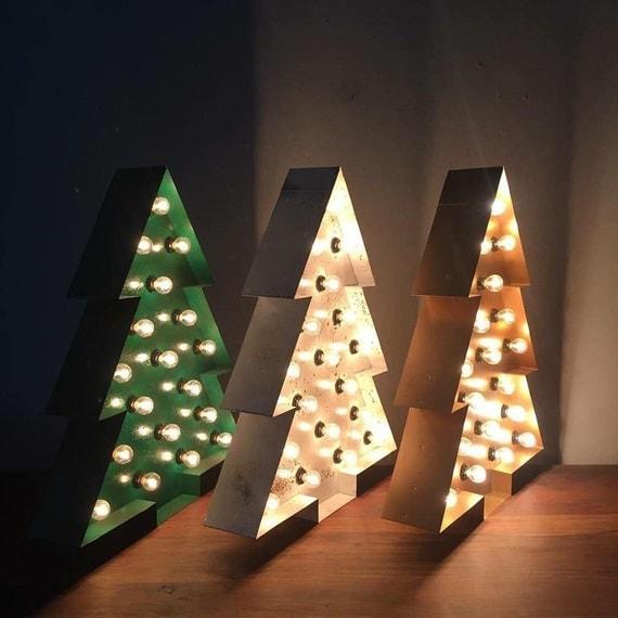 "Custom 24"" Christmas Tree Marquee"