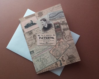 Vintage Ephemera Note Card Set of 10