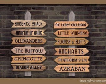 Printable Wizard Themed Wooden Arrow Signs / Wizard Photo Props / Weddings / Party Decors / PDF Digital / Instant Download