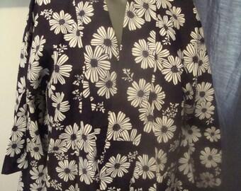 Vintage Yukata Daisy Motif