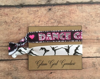 Dance Party Favors! Hip hop party, dance hair ties, gift for dancer, tween party, girls party favors, dancer gift,Dance Team gifts