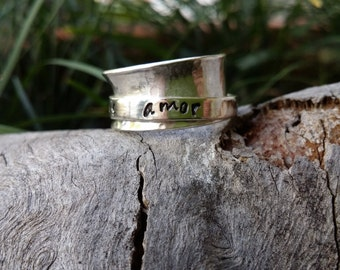 Spinning ring, spinner ring, worry ring, meditation fiddle ring, personalized ring, Made in Australia, anxiety ring, spin ring, hand stamped
