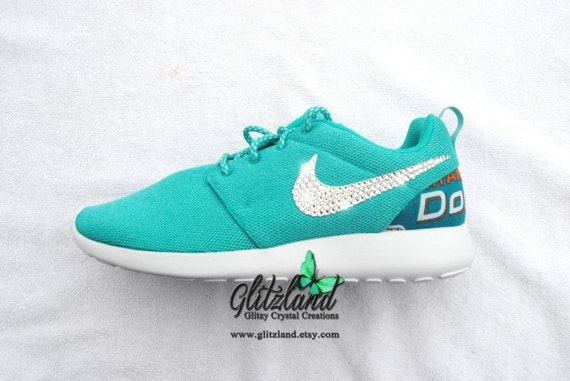 on sale 58f18 722f6 NEW Swarovski Nike Miami Dolphins Womens Blue Turq by Glitzland 70%OFF. Nike  Shoes