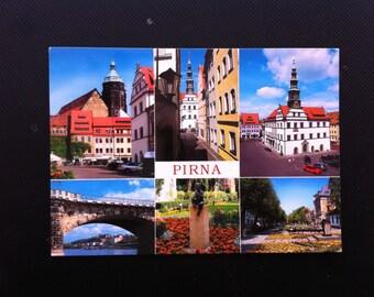 Postcard of Pirna, City View Postcard, Pirna City View, Viewcard of Pirna