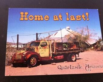 Home at Last Postcard, Joke Postcard, Arizona Postcard