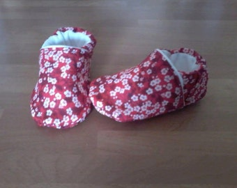 Soft slippers in Liberty mitsi 0/3 months