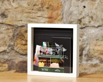 Ticket memory box frame