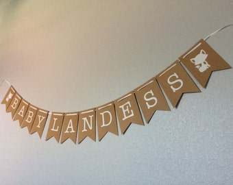 Woodlands themed Baby Shower, Birthday Party, Custom Name Banner