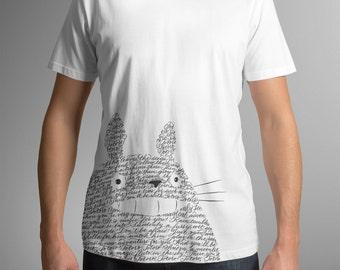 My neighbor Totoro T-Shirt Tee Calligraphy Hayao Miyazaki