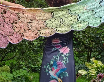 crochet pastel scarf