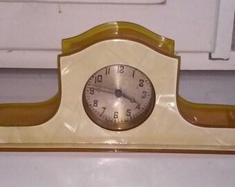 Celluloid Dresser Clock