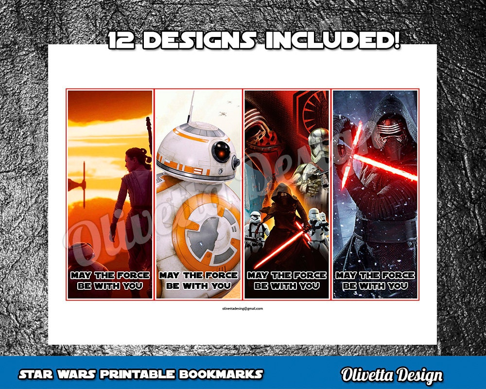 It is a picture of Striking Star Wars Bookmarks Printable