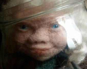 Blue eyes, glass eyes,