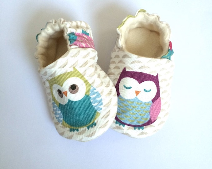 Owls! soft sole pre walker baby shoes