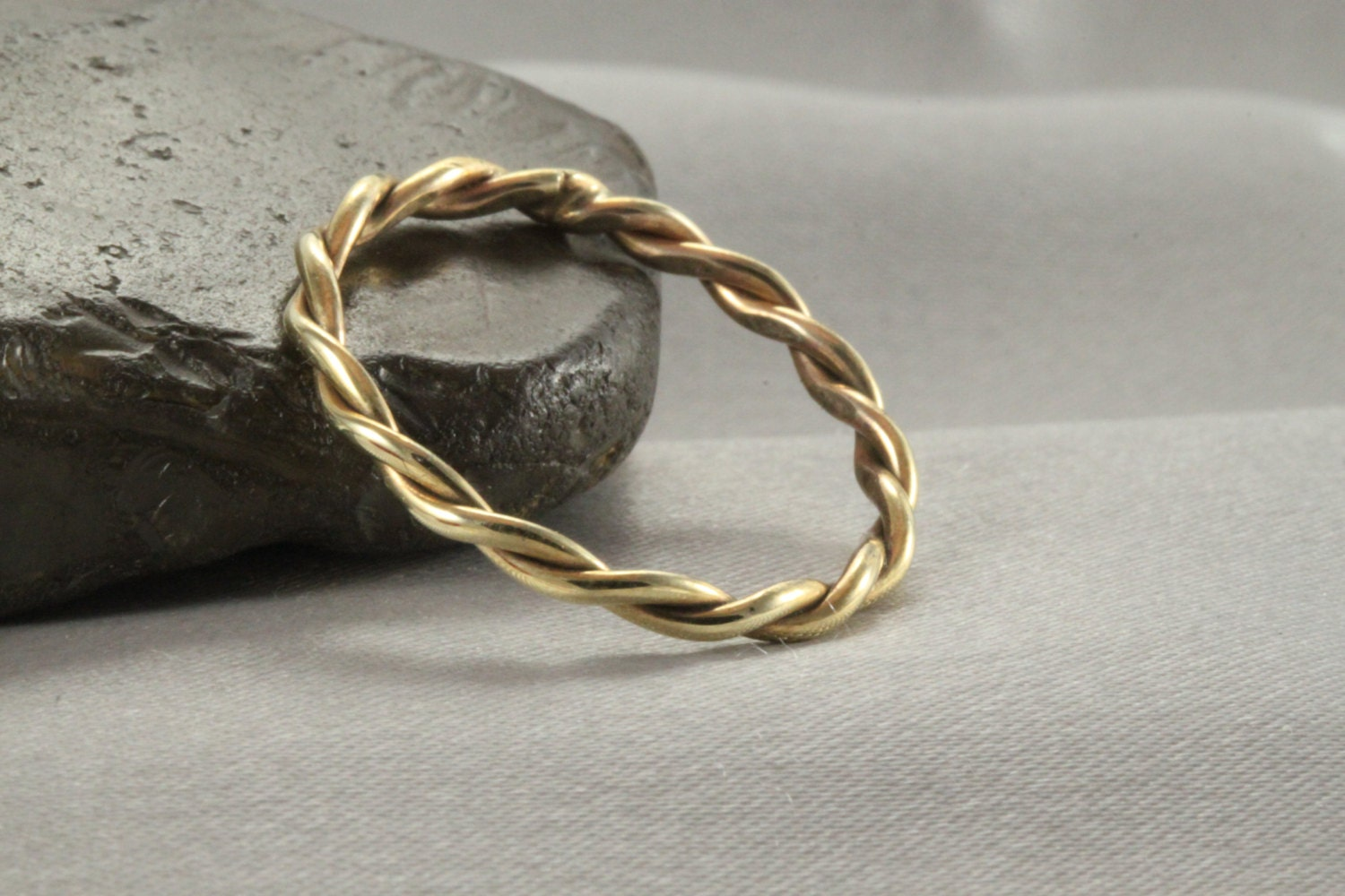 wedding band solid 14k gold yellow gold twist ring. Black Bedroom Furniture Sets. Home Design Ideas