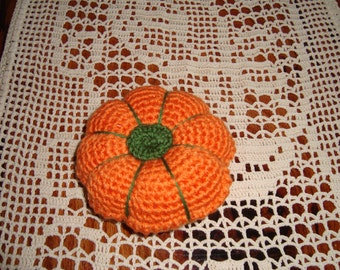 Crochet Pumpkin Pincushion.