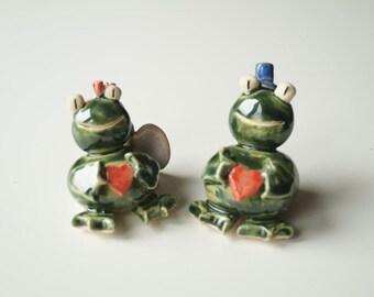 Frog Cake Topper, Ceramic Frog, Wedding Cake Topper, Love Frog, Cake Topper by Her Moments