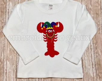 Mardi Gras Crawfish Child's T-shirt or Baby Bodysuit, Kids Mardi Gras Shirt, Toddler Mardi Gras Shirt, NOLA, My First Mardi Gras