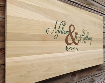 Rustic Guest Book Wood Sign, Wedding Guest Book Alternative Gift, Decorative Pen, Guestbook