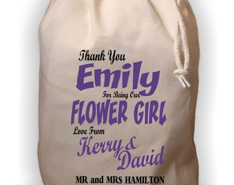 Personalised Flower Girl Gift Bag - Various Sizes Available Emily Design