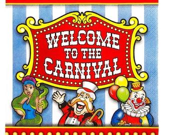 Carnival Luncheon Napkins