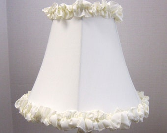Off white lamp shade etsy sale bogo 12 off cream ruffle shantung silk table lamp shade with ruffles mozeypictures Gallery