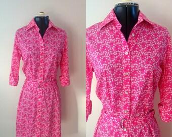 Vintage floral shirtdress / Vintage Shirtdress / Sundress / Summer dress / daisy dress