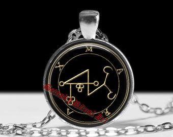 21 MARAX demon seal pendant, Goetia sigil necklace, Lemegeton jewelry, Lesser Key, occult pentacle, summoning demons ritual amulet 104.21