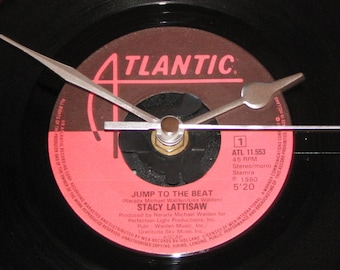 """Stacy Lattisaw jump to the beat   7"""" vinyl record clock"""