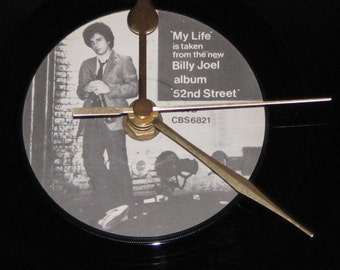 "Billy Joel my life  7"" vinyl record clock"