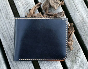 leather wallet two-toned / mens wallet / womens wallet