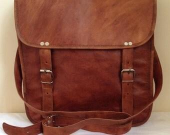 """13"""" Bag - 13"""" Satchel - Leather shoulder bag -  13"""" Brown Leather Bag"""