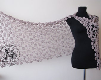 Shawl crochet Viscose Cotton Wedding Crochet lace wedding shawl Made to Order