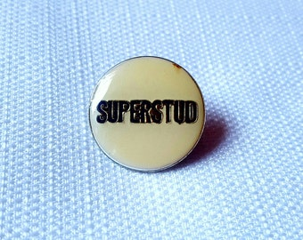 Vintage Early 80s Superstud Enamel Pin
