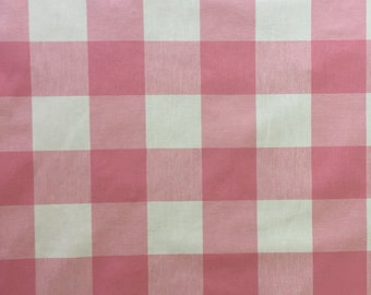 Pink Buffalo Check - Checkmate Strawberry - Pink Check - Upholstery Fabric  - Drapery Fabric - Fabric By The Yard