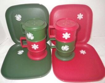 Vintage Tupperware Holiday Christmas Set