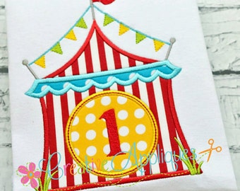 Circus Tent Birthday Onesie or Toddler shirt