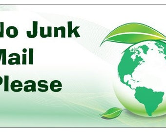 No Junk Mail Please letterbox magnet home deco modern eco