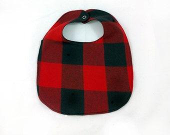 Buffalo Plaid Baby Bib - Lumberjack Bib - Baby Bib - Dribble Bib - First Birthday Gift - Unique Baby Shower Gift - Hipster Baby Bib