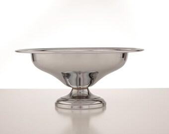 Danny Wilson Original Chrome Footed Bowl, 1960s/70s
