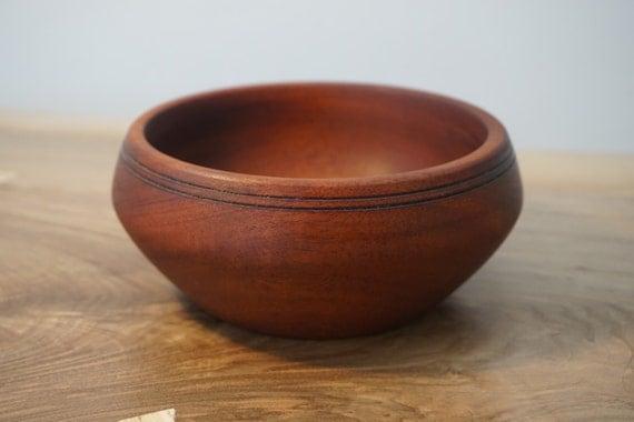 Hand Turned Sapele Wood Bowl