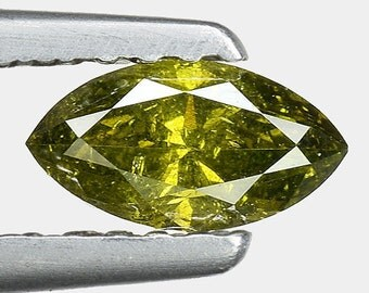 "0.35cts Forest Green Marquise Natural Loose Diamond ""SEE VIDEO"""