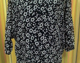 casacca SLEEVE SHIRT woman woman with DAISIES elegant news