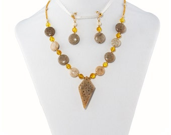 Ancient Earth Necklace with Earrings